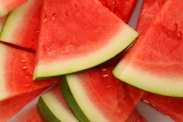 Triangle slices of watermelon