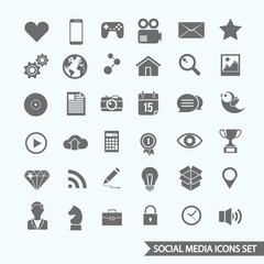 Social media vector icons.