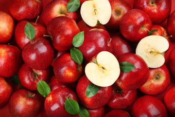 Fototapete - Red apples background