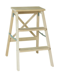 wooden ladder isolated on white with clipping path
