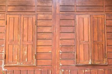 Wall Mural - Old wood window