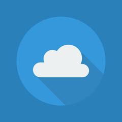 Weather Flat Icon. Cloudy