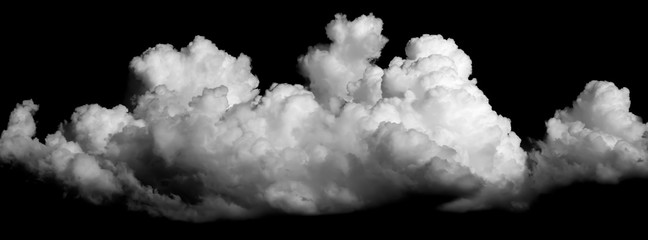 Poster de jardin Ciel clouds on black background