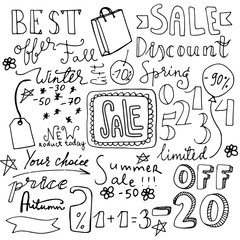 Set of hand drawn doodle icons.