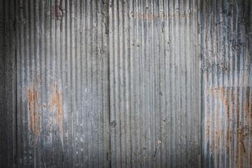 Wall Mural - Weathered galvanized sheet