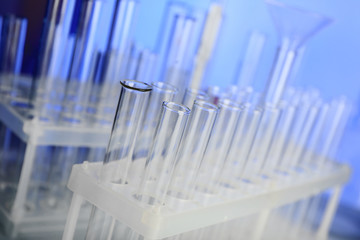 Test tubes in laboratory