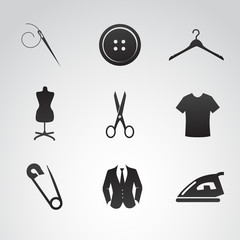 Sew vector icon set.