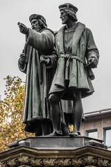 Johannes Gutenberg monument (1858). Frankfurt am Main, Germany.