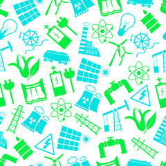 electricity and energy symbols color seamless pattern eps10
