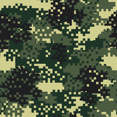 Camouflage seamless pattern.Can be used for background design, military textile.