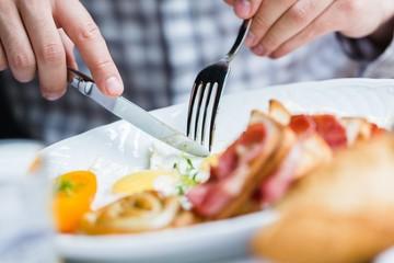Eggs, Breakfast, Sausage.