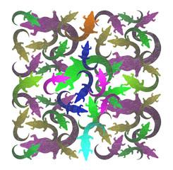 Colored Alligator contours - A