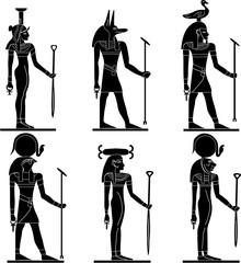 vector gods of Egypt