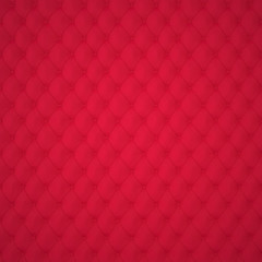 Red Capitone Upholstery Pattern Background with Buttons for Decoration. Classics and Rococo. Rendering in 3D Program.