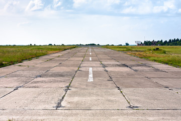 runway at the old airdrome
