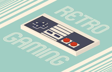 Retro gaming vector illustration