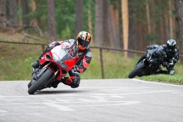 Deurstickers Motorsport Motorbike racing