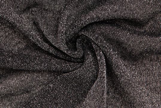 grey lurex textile