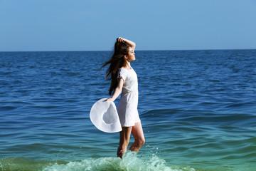 Pretty woman on beach