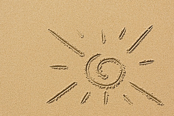 image of the sun on the sand