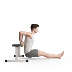 exercise illustration - bench dip