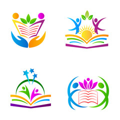 The purpose of the education logos design used for school college and university sign and symbol.