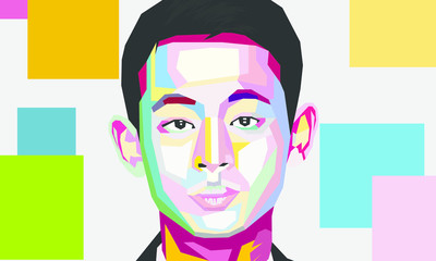 Face Pop art