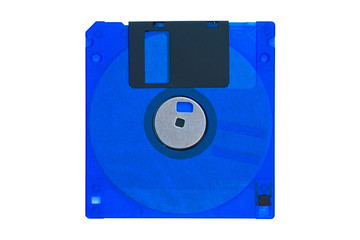 3.5 inch floppy disk isolated on white background