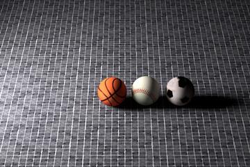 basketball baseball and soccer balls