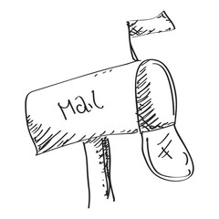 Simple doodle of a mailbox
