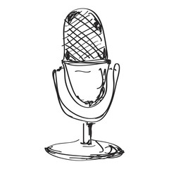 Simple doodle of a microphone