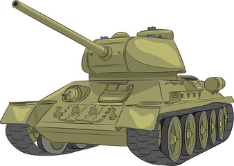 Vector. Middle tank T-34-85. Fototapete