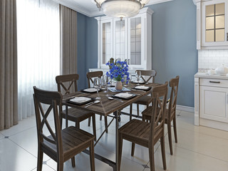 Classical design of dining room