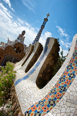 Architectural detail at Parc Güell in Barcelona