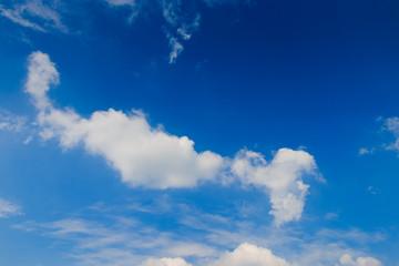 Blue-sky on sunny day