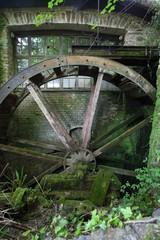Canvas Prints Mills Water wheel at Cockington