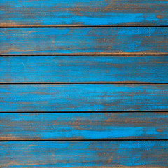 Blue washed wood texture. background old panels