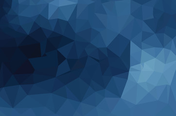 Blue geometric pattern, triangles background