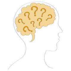 Questions in our mind vector illustration