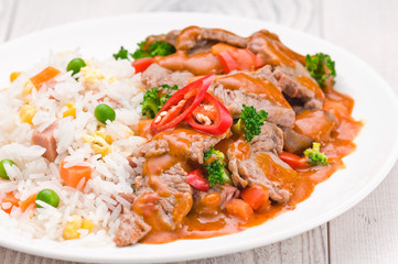 Thai Chili Beef dish