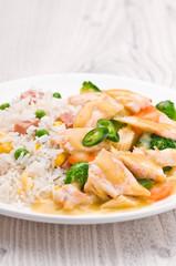 Thai Green Curry dish