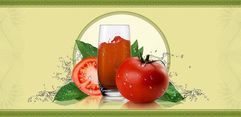 Label for tomato juice.