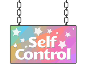 Self Control Colorful Signboard