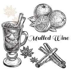 hand drawn mulled wine