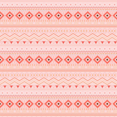 Tribal ethnic seamless stripe pattern, swatches included.
