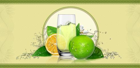 Lemons,label for beverage.