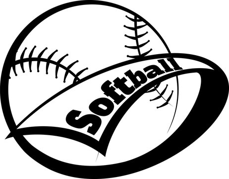 Softball Pennant with Font