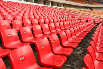 Aluminium Prints Stadion Empty seats at the Stadium