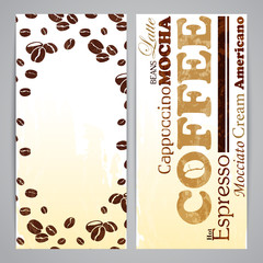 Flayer templates for coffee menu
