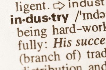 Dictionary definition of word industry